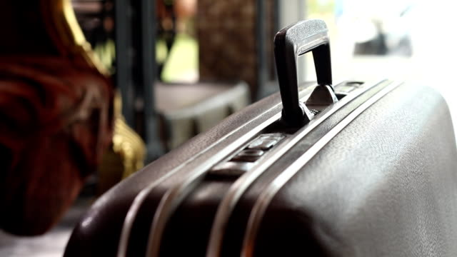 man take journey with the old suitcase video
