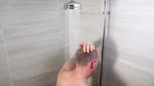 Man Taking a Shower video