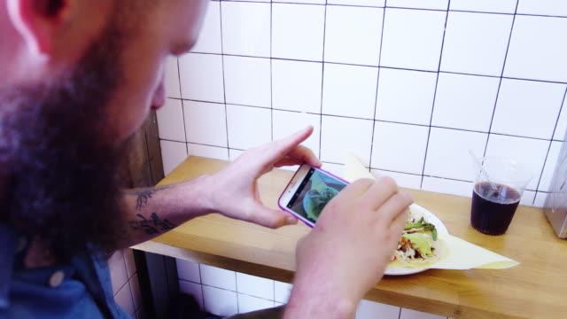 Man Taking Food Selfie video