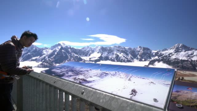 Man traveling Swiss Alps video