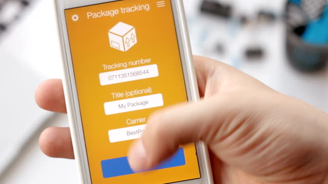 Man tries to track his package using smartphone application but the shipment is canceled. video