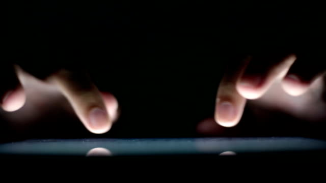 Man use tablet close-up video
