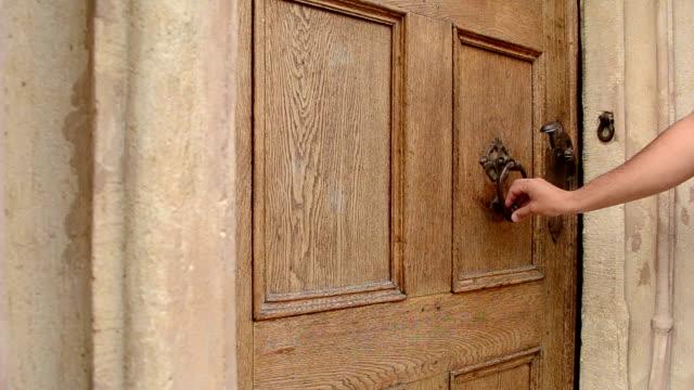 man uses door knocker - opportunity stock videos & royalty-free footage