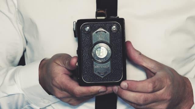 Man Uses Vintage Box Camera video