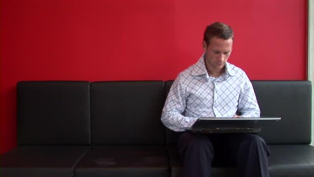 HD: Man Using A Laptop video