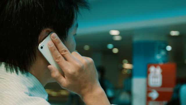 Man using a smart phone ,close up video
