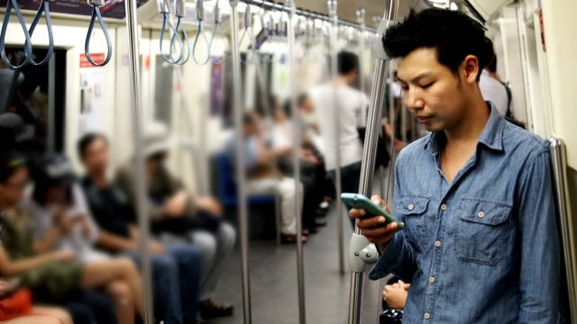 Man using his cell phone video