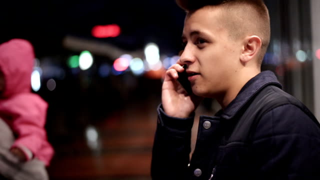 Man using phone video