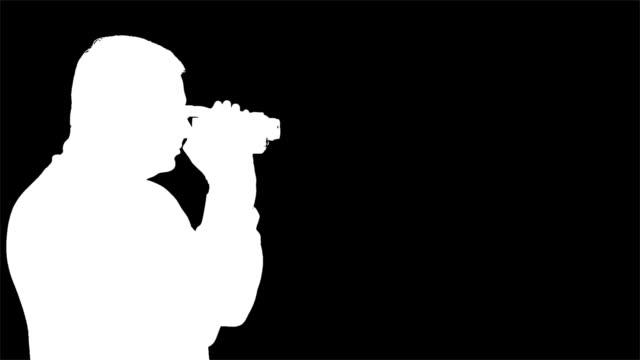 Man Video Camera - Key Matte video