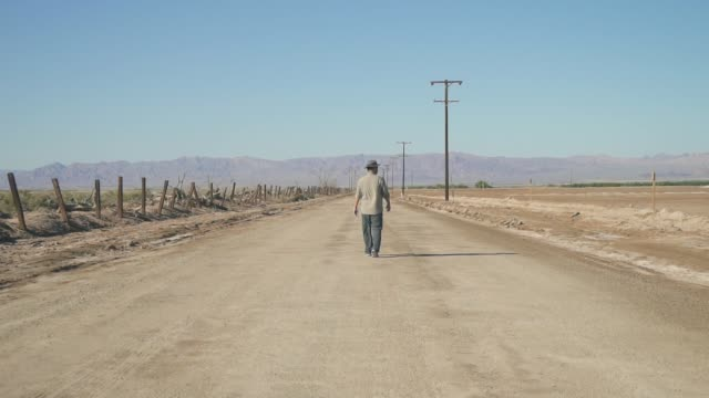 Man Walk Dirt Road video