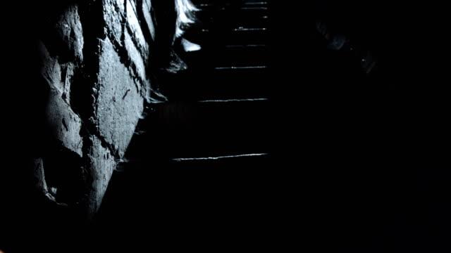 man walking downstairs in daylight - basement stock videos & royalty-free footage
