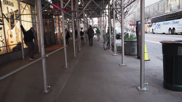 Man Walking Downtown NYC