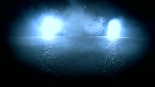 man walking into night from backlight - scarpe video stock e b–roll