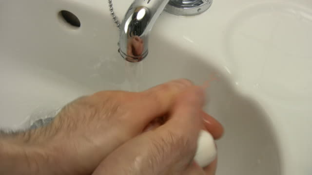 Man washing hands video