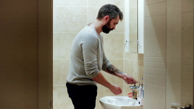 Man washing his hands video