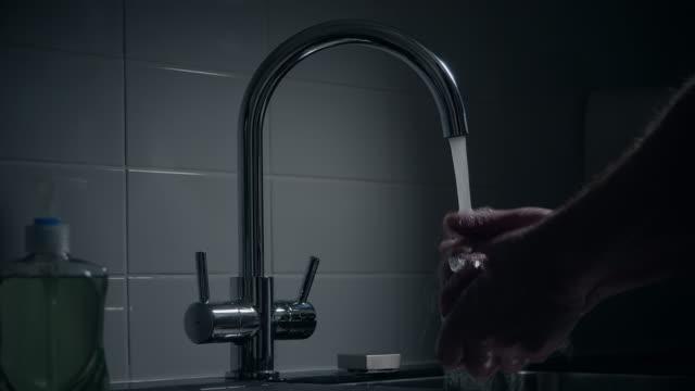 Man washing his hands. video