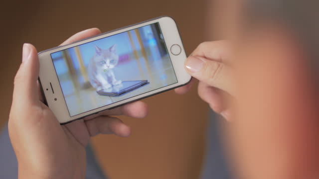 Man Watching Video On Smartphone,Close-up video