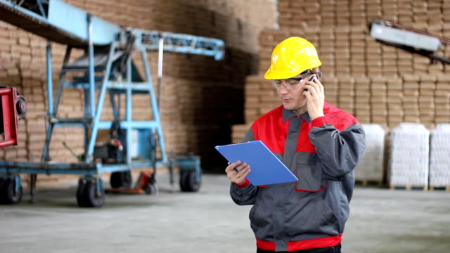 Man working in Warehouse video