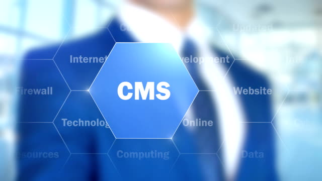 CMS, Man Working on Holographic Interface, Visual Screen video