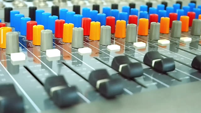 A Man Working on Mixing Control Panel video