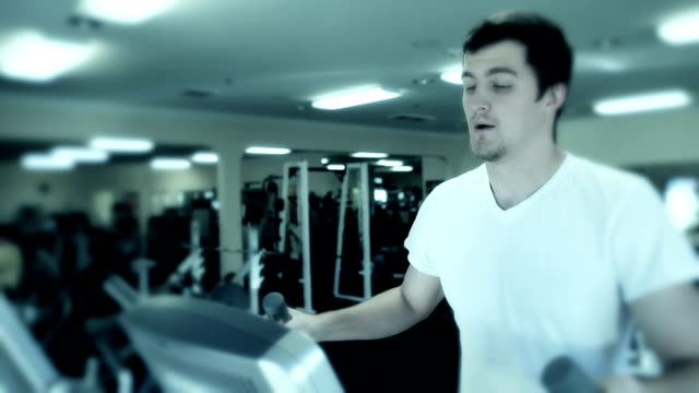 Man Working Out In Health Club video