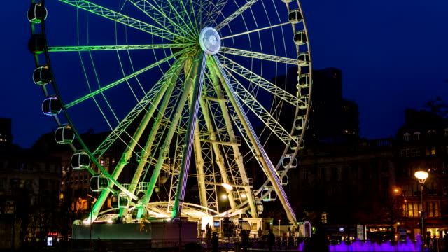 manchester wheel - manchester inghilterra video stock e b–roll