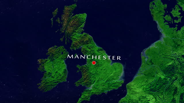 manchester zoom in - manchester inghilterra video stock e b–roll