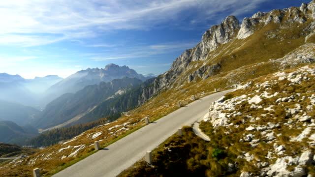 AERIAL Mangart Mountain Pass video