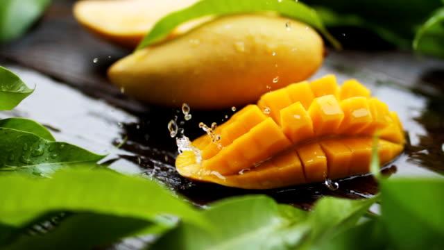 Mango juice and Fresh fruit concept
