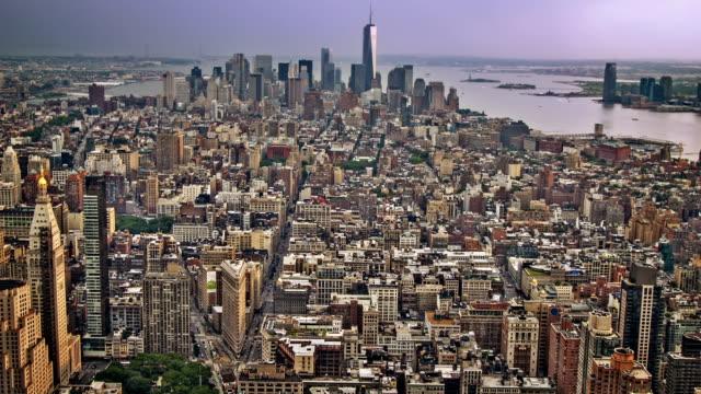 Manhattan aerial view, New York video