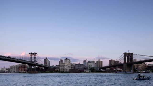 Manhattan and Brooklyn Bridge Time Lapse Panorama video