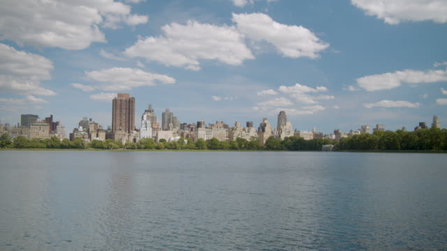 Manhattan and Central Park Time lapse Filmed across water towards mid-town. central park manhattan stock videos & royalty-free footage