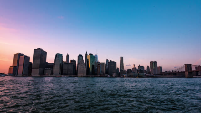 Manhattan at Sunset video