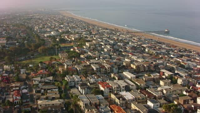 AERIAL Manhattan Beach in California, USA