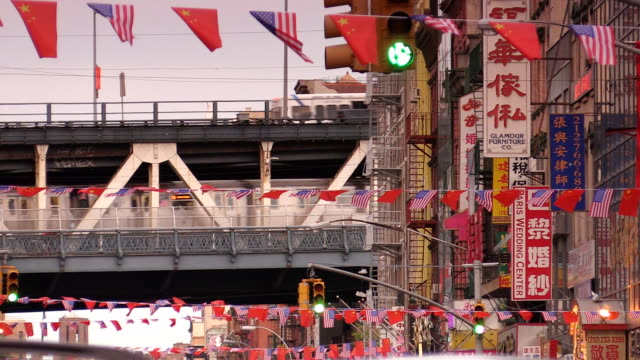 Manhattan Bridge Chinatown in New York City video