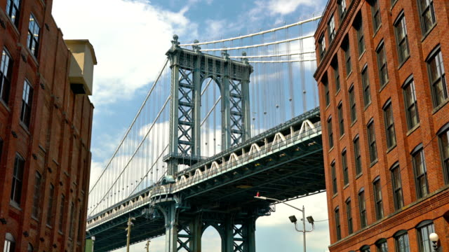 Manhattan Bridge. Classic view Cityscape manhattan bridge stock videos & royalty-free footage