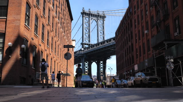 Manhattan Bridge in New York Manhattan Bridge in New York manhattan bridge stock videos & royalty-free footage