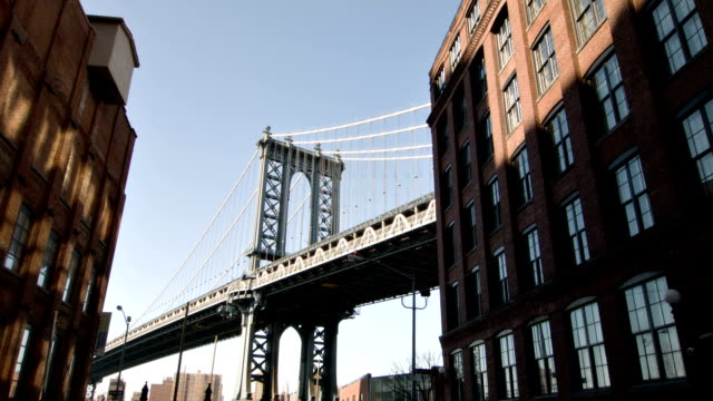 Manhattan bridge on a sunny day City background manhattan bridge stock videos & royalty-free footage