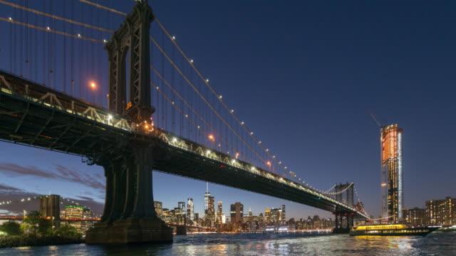 Manhattan Bridge panoramic time lapse video