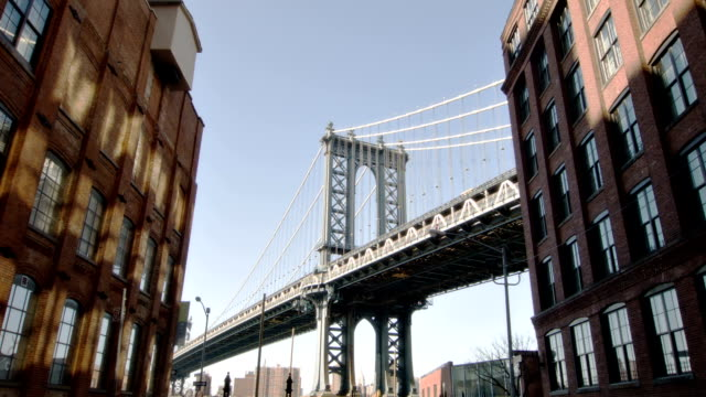 Manhattan bridge taken from Brooklyn City background manhattan bridge stock videos & royalty-free footage