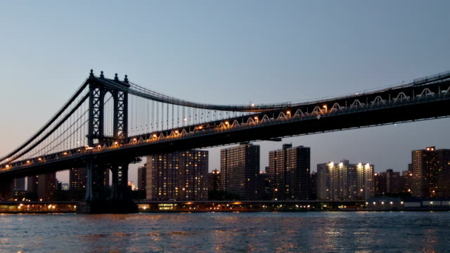 Manhattan bridge New York. USA manhattan bridge stock videos & royalty-free footage