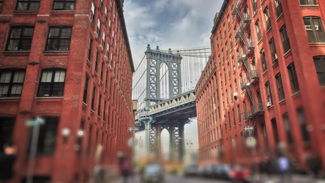 manhattan bridge - new york architecture stock videos & royalty-free footage
