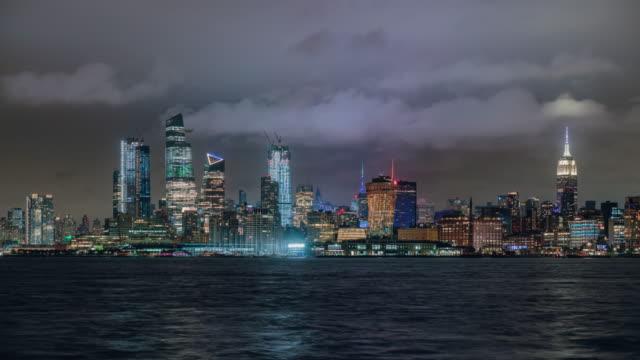 T/L  Manhattan business district / New York City, USA