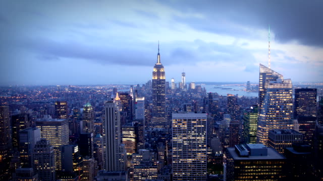 Manhattan day to night, New York video