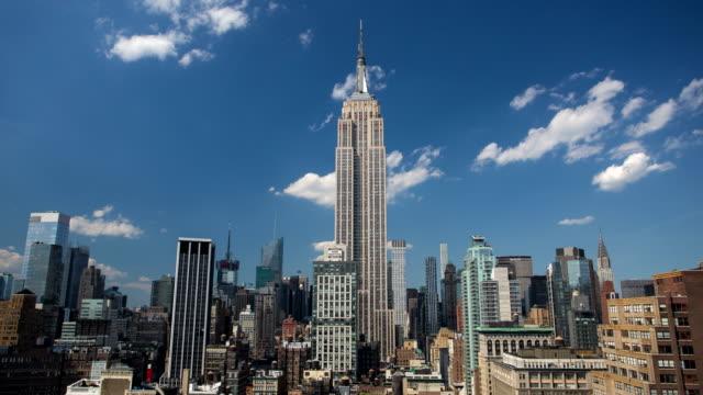 Manhattan - Empire state Building - 4K Time lapse video
