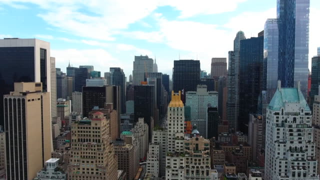 manhattan, new york / aerial - new york architecture stock videos & royalty-free footage