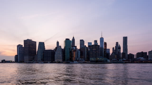Manhattan, New York City Day to Night Sunset Timelapse September 11th Tribute video