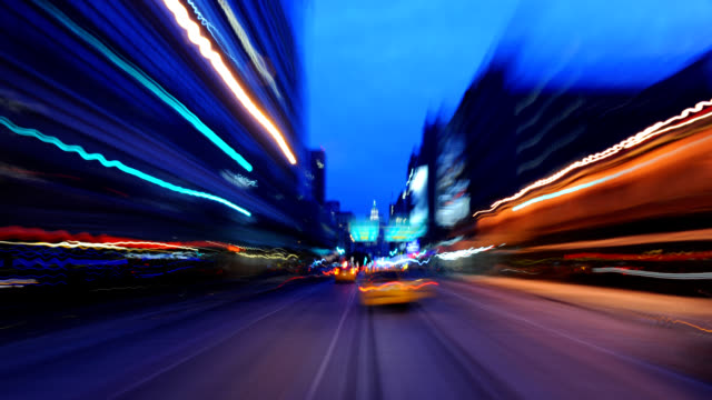 manhattan night drive. - time lapse stock videos & royalty-free footage