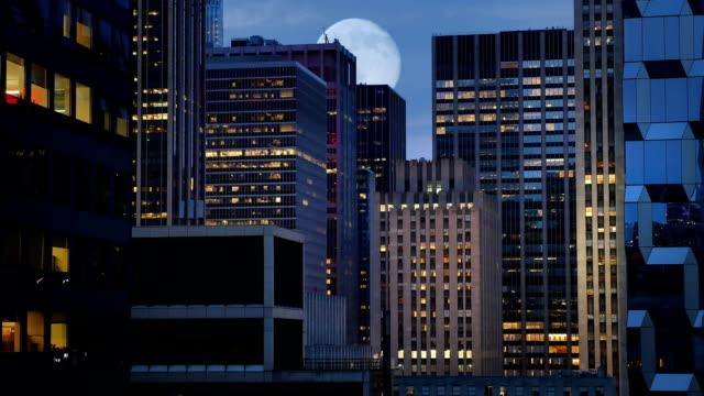 Manhattan Night Skyline video