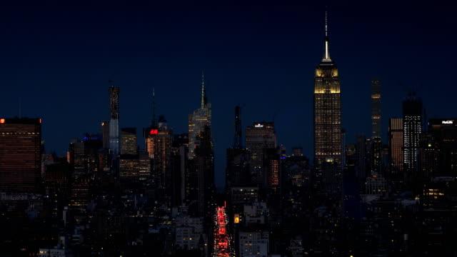 manhattan nätter - skyline bildbanksvideor och videomaterial från bakom kulisserna